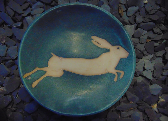 Large Stoneware Bowl - Leaping Hare