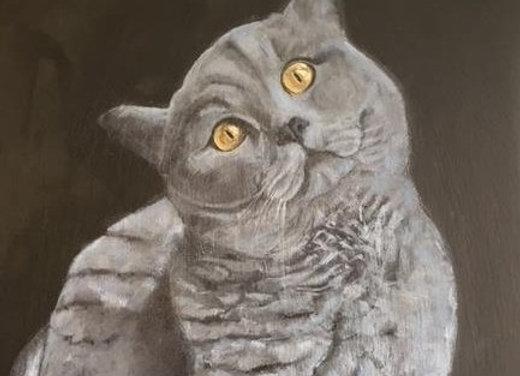 Oil on slate - Barney