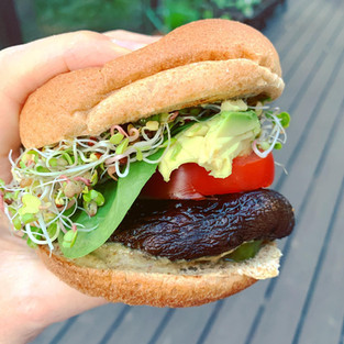 Classic portobella burger