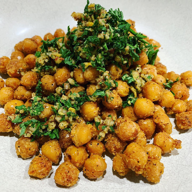 Crispy garbanzos