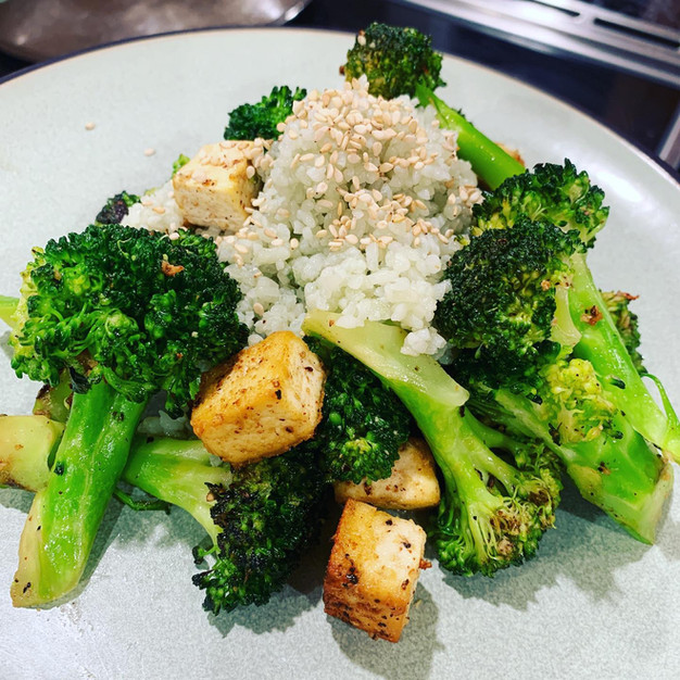 Simple broccoli and tofu