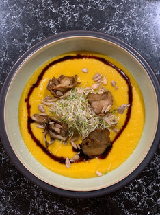 Roasted Butternut Squash with Hen of the Woods Mushrooms
