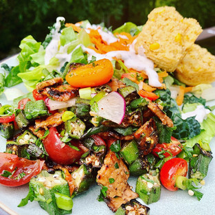 Southern okra salad