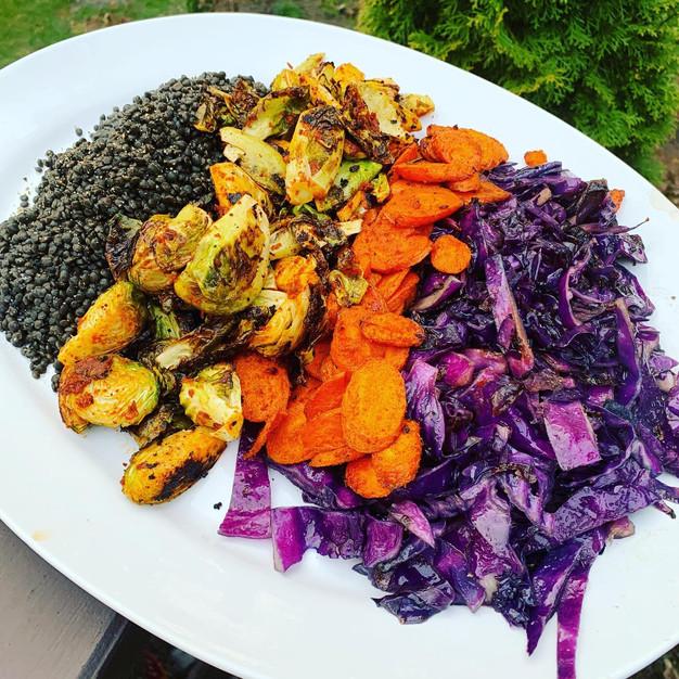 Moroccan lentil platter