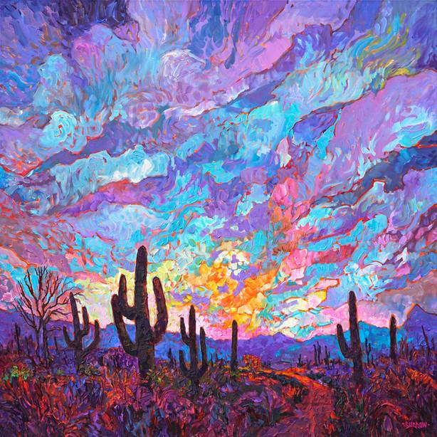 Twilight Saguaro's
