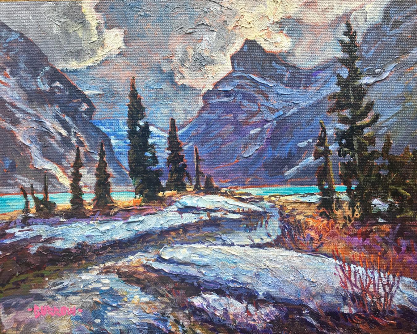 """""""Late Winter At Bow Lake"""""""