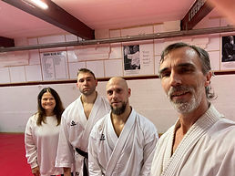 Don after passing his 4th Dan and his student Arunas passing shodan. Excellent level of gr