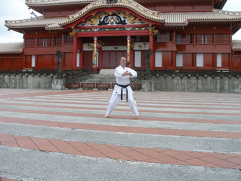 Dave Wilkins outside Shuri Castle 2012