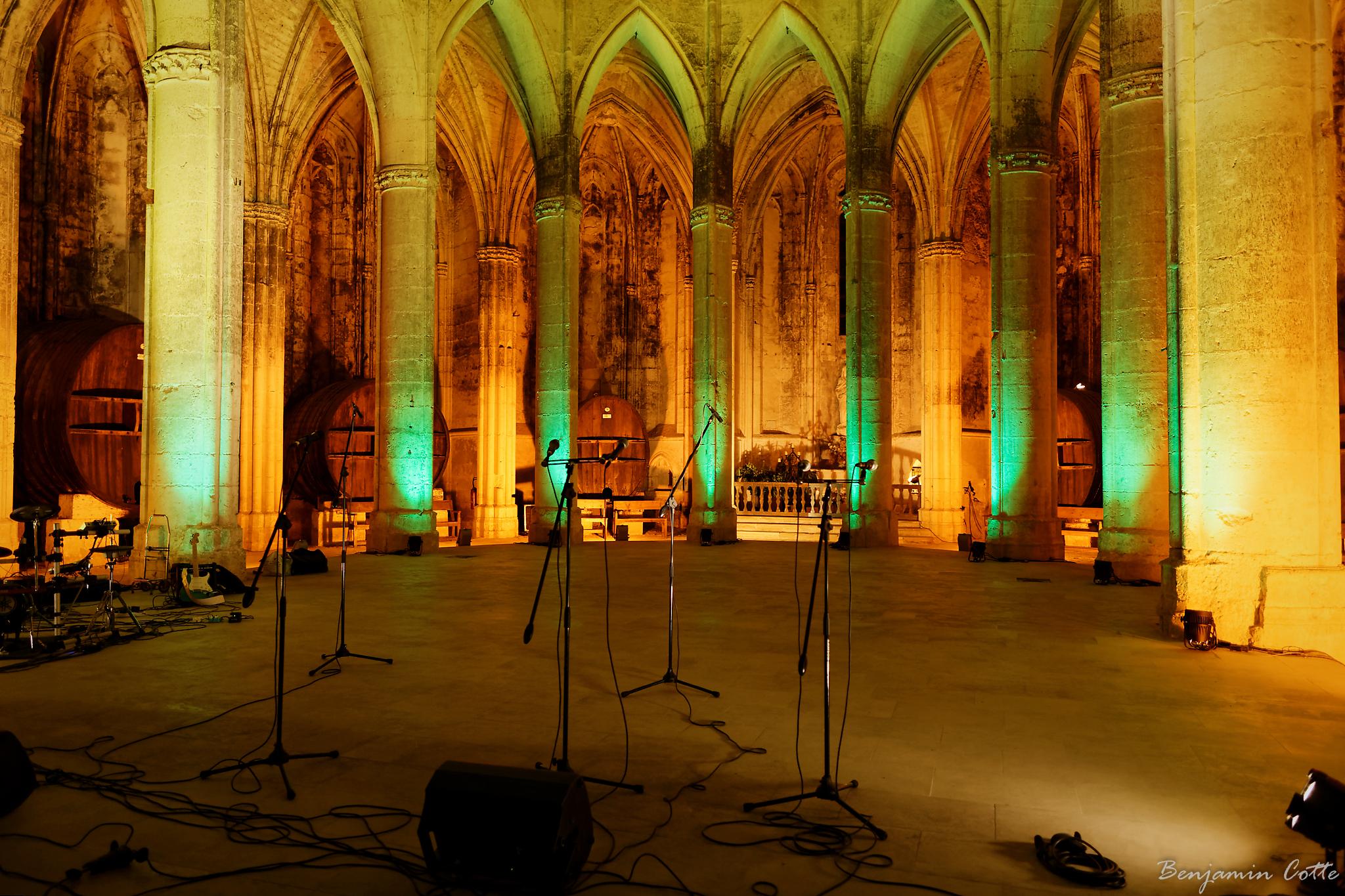 La scène de l'Abbaye de Valmagne