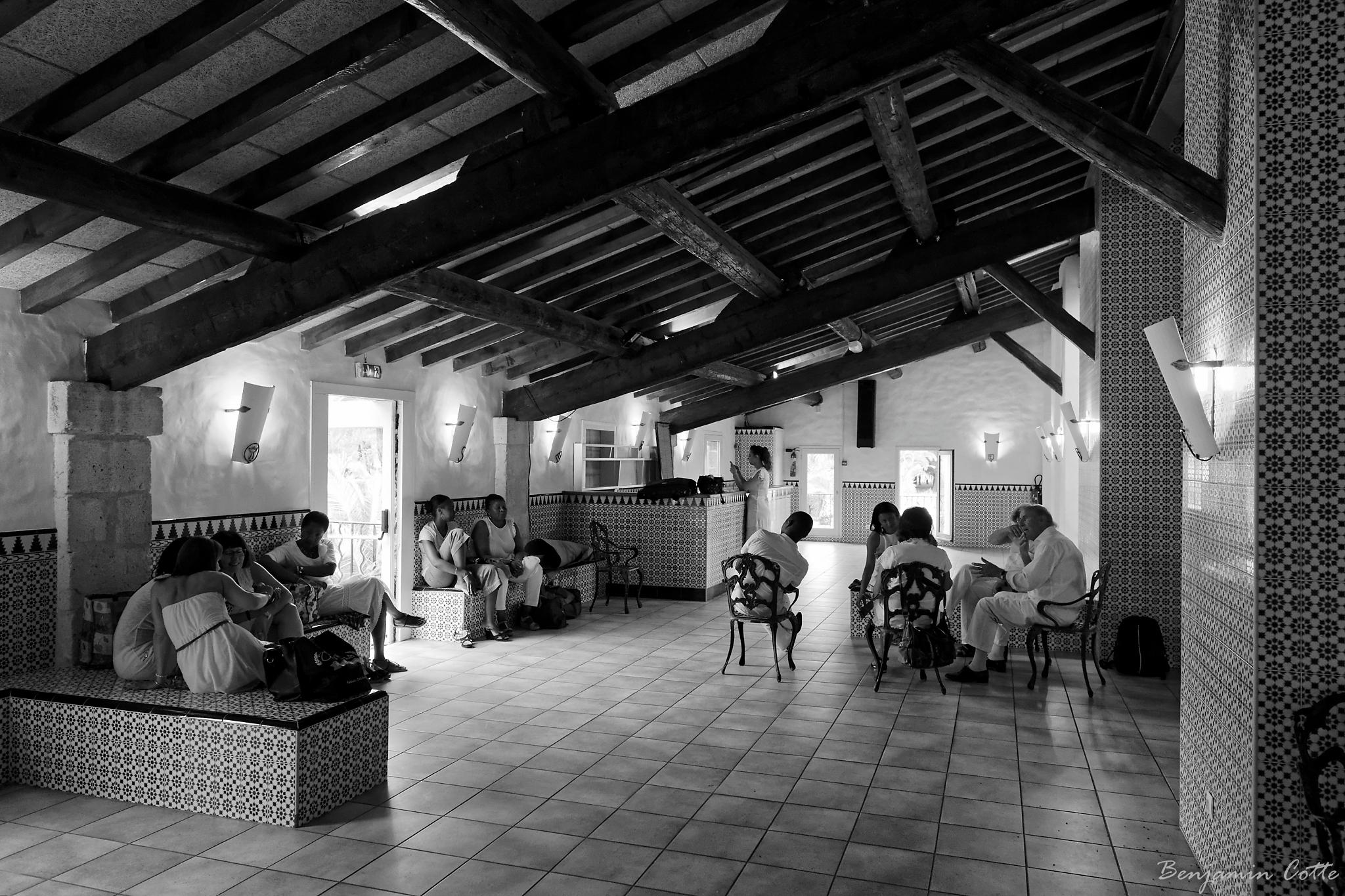 L'espace dédié aux choristes