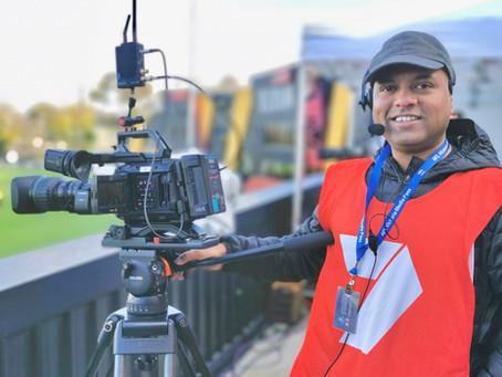 Deakin's outdoor live broadcast team captures AFL match in Melbourne!