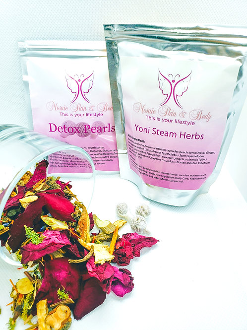 V-steam, Vaginal Steaming Kit, Yoni Pearls. Includes our favorite. The Goddess B