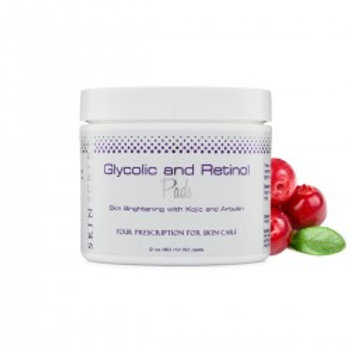 SKIN SCRIPT - GLYCOLIC AND RETINOL PADS, WITH KOJIC ACID AND ARBUTIN. 50 PADS IN