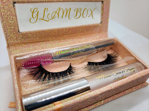 Ultimate Collection Glam Box with Eyelash Extensions, Eyelash Wand and Apple Spa