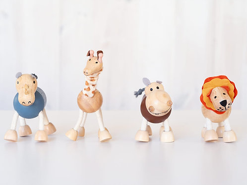 Flexible wooden animals
