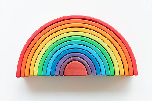 A rainbow in a wooden cloud XL
