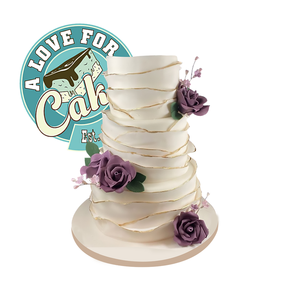 Custom wedding cake by A Love for cakes