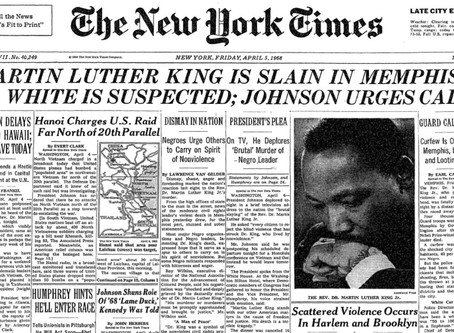 On MLK Jr.'s Assassination Anniversary...We Remember the Friend he was to Israel