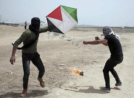 Gaza Terror Cells use Fire to Destroy Israeli Fields