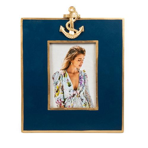 Navy Anchor Photo Frame