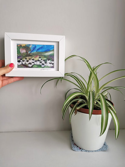 The Woolly Homestead Framed Print