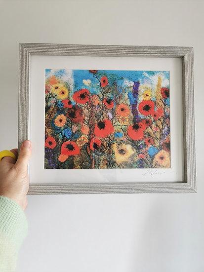 Wild Flower Field Framed Print