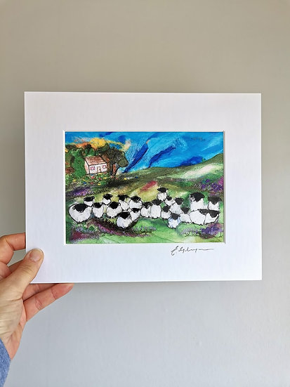 The Woolly Homestead Mounted Print