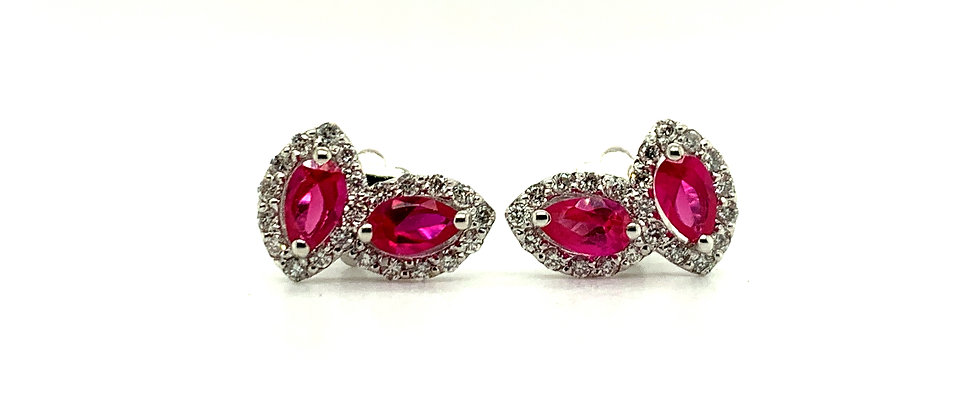 18 KT MARQUISE SHAPED EARRINGS