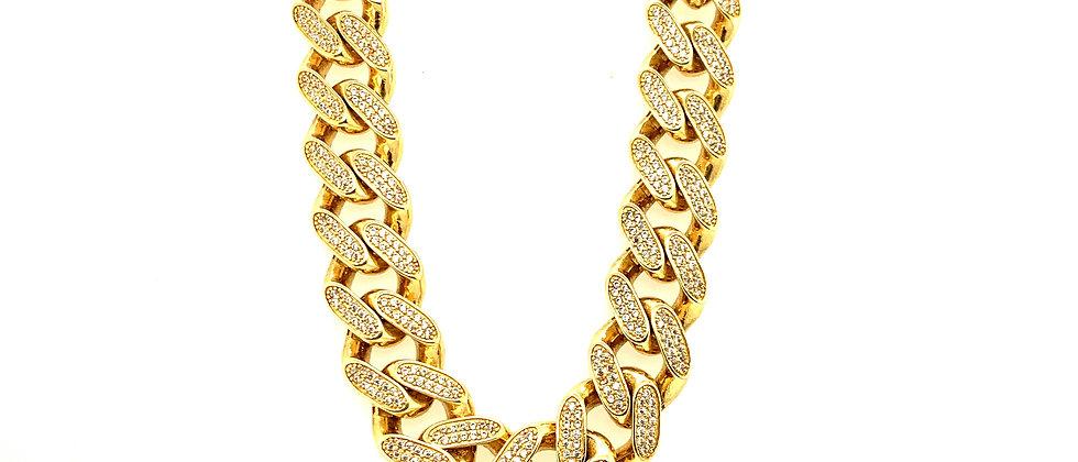 """18 KT gold """"CUBAN LINK"""""""