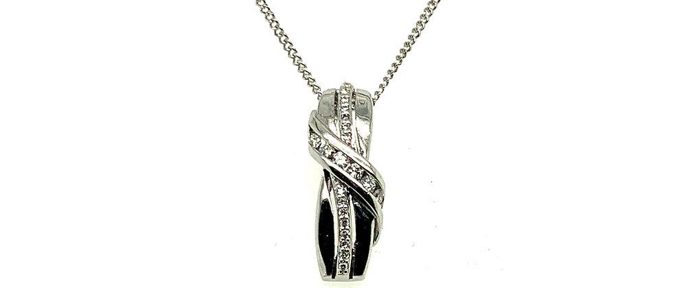 18 KT Diamond pendant