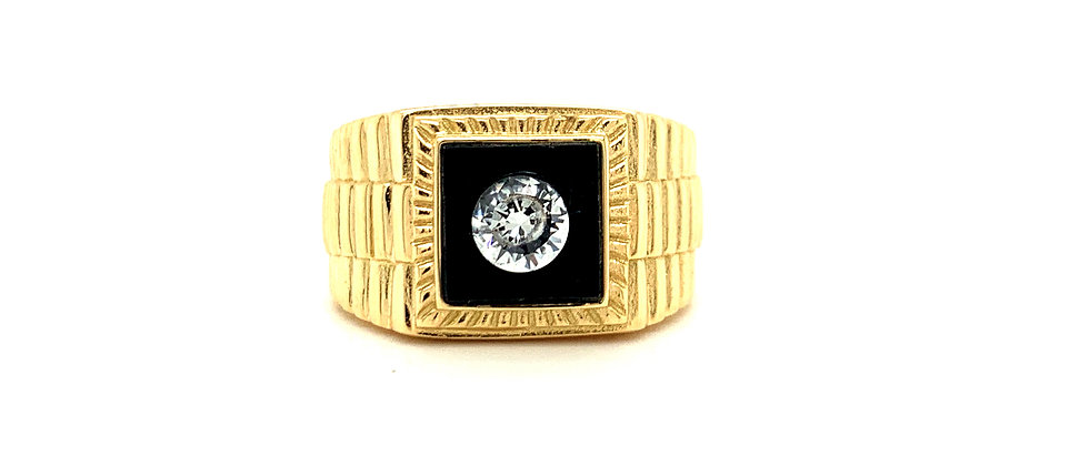 18 KT PRESIDENTIAL RING WITH ONYX