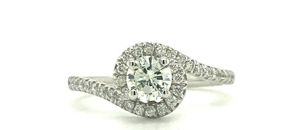 "18 KT ""TWIST"" SOLITAIRE RING"