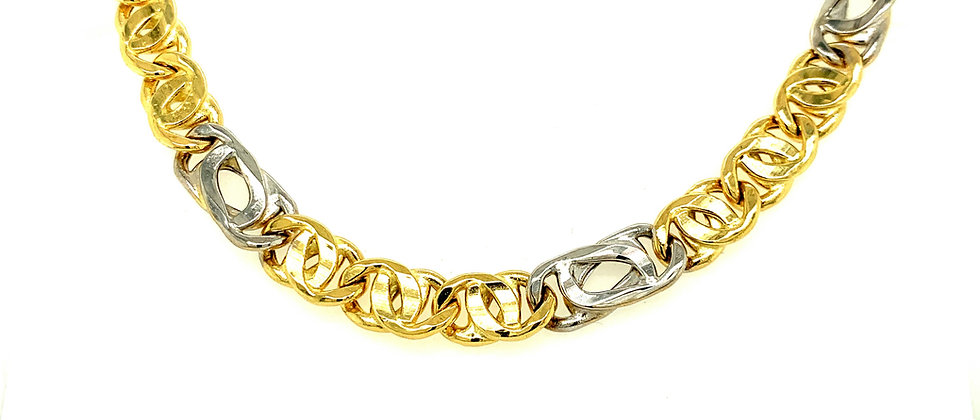 "18 KT gold ""EAGLE'S EYE"" chain"