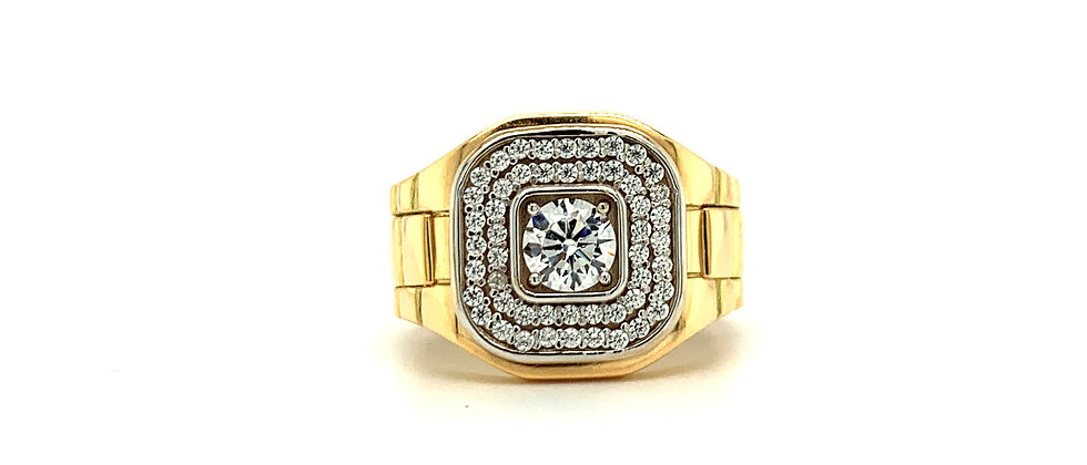 18 KT SQUARE PRESIDENTIAL RING