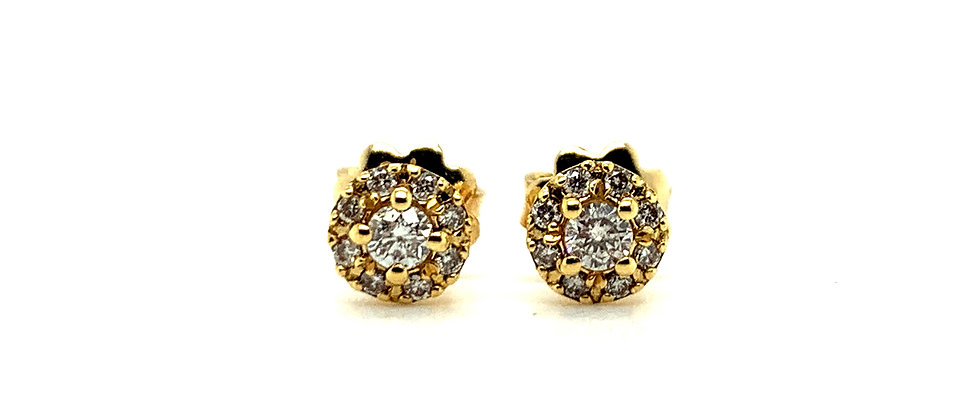 18 KT HALO EARRINGS