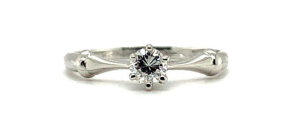 "18 KT SINGLE DIAMOND  ""ANNIVERSARY"" RING"