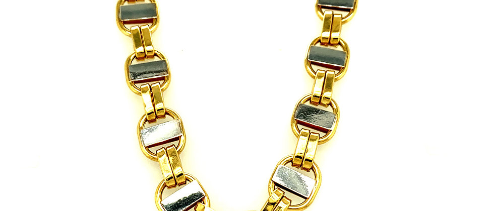 "18 KT gold ""FLAT KING"" chain XL"