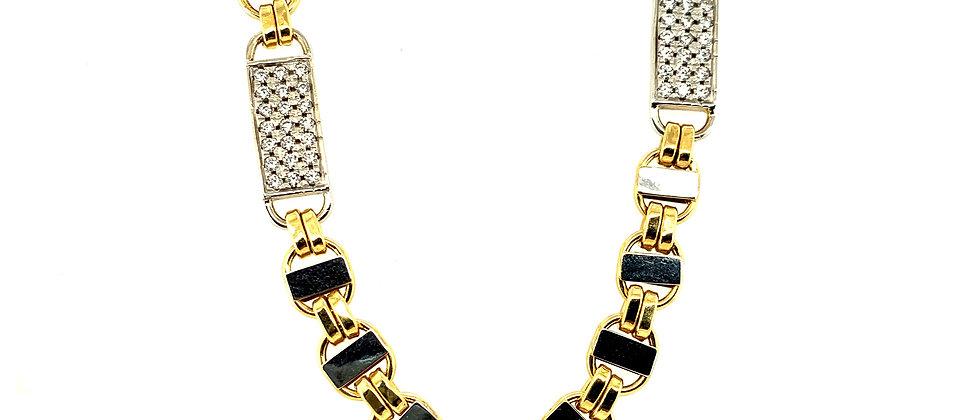 "18 KT gold ""FLAT KING"" chain M"