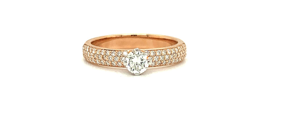 18 KT PAVE SOLITAIRE