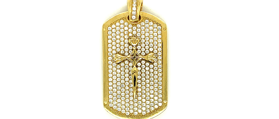 ARMY PENDANT WITH CROSS