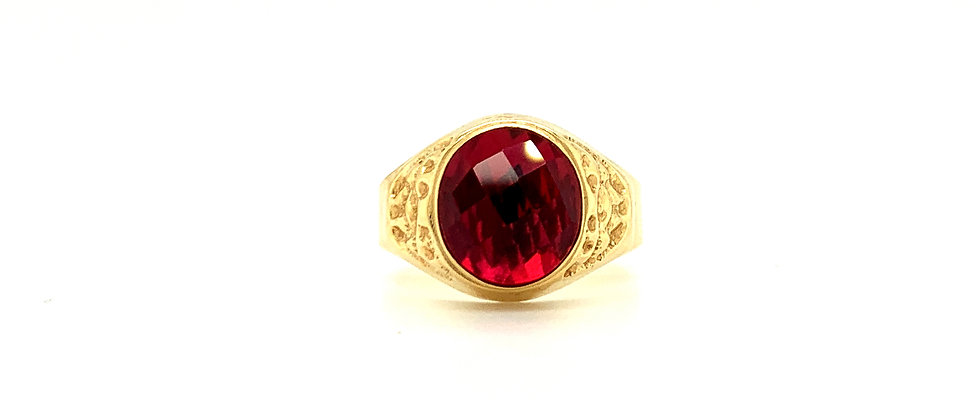 "18 KT ""RED EYE"" RING"