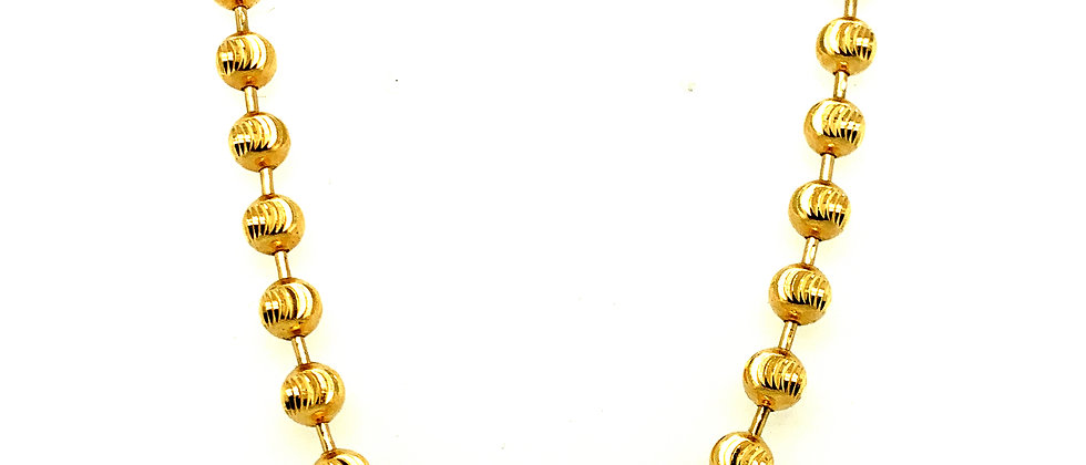 "18 KT gold ""ARMY"" chain"
