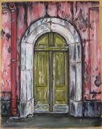 Green Doors in Lisbon