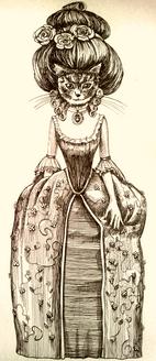 Antica signora gatto