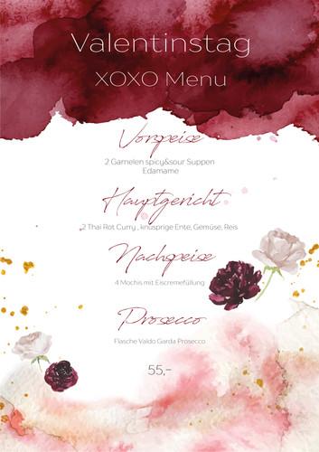 XOXO Menu