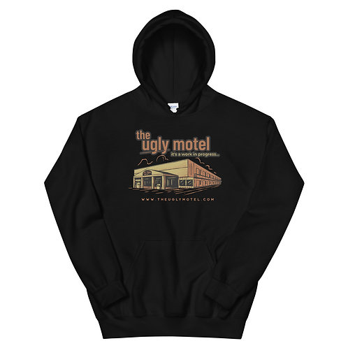 Ugly motel Hoodie with building :)