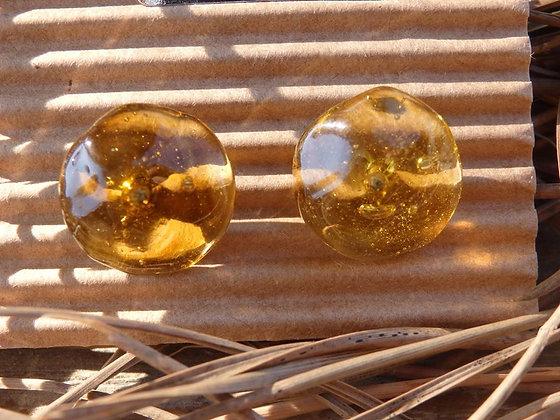 Pendientes vidrio reciclado Ámbar II