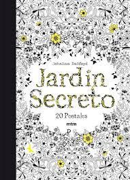 """Libro de postales  de """"El jardín secreto"""""""