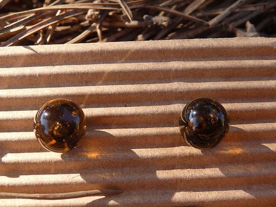Pendientes vidrio reciclado Ámbar