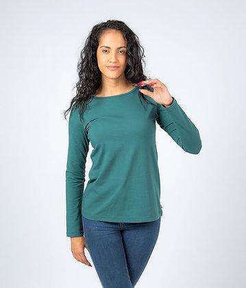 Camiseta de algodón Paula Prusia